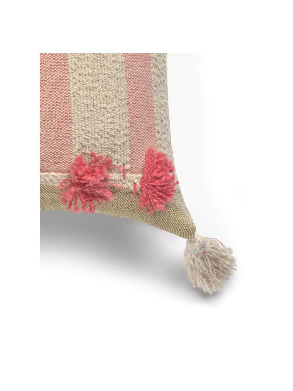 Kissenhülle Vals mit Tasseln, 100% Baumwolle, Mehrfarbig, 45 x 45 cm