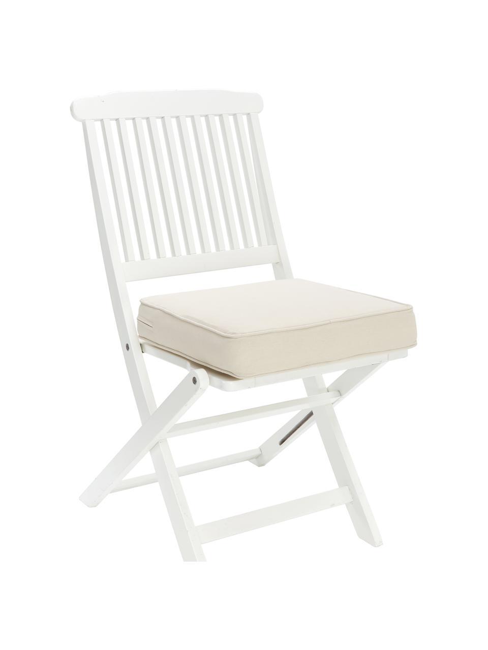 Hohes Sitzkissen Zoey in Beige, Bezug: 100% Baumwolle, Beige, 40 x 40 cm