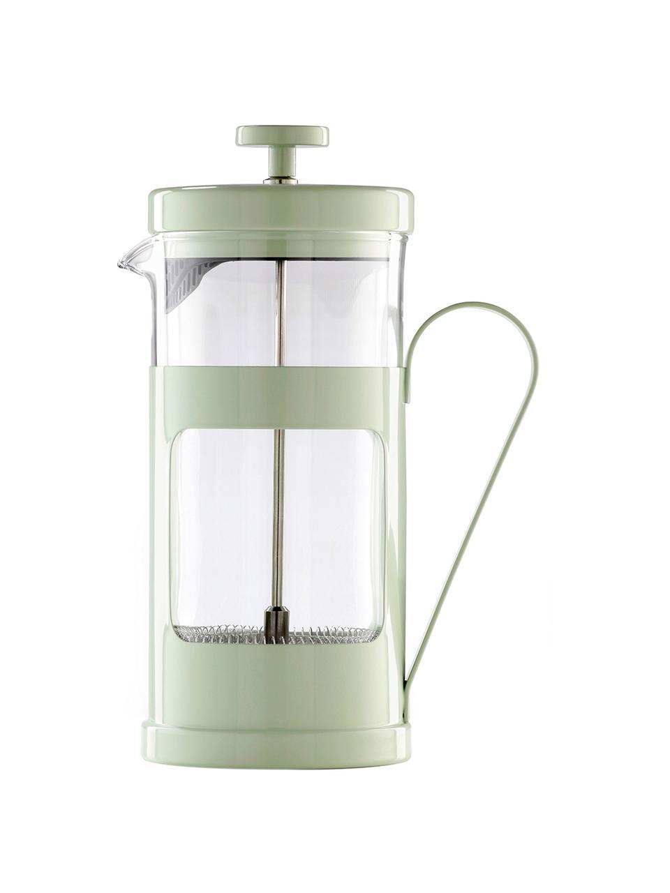 Kaffeebereiter Monaco in Mint, Edelstahl lackiert, Borosilikatglas, Transparent, Mint, 1 L