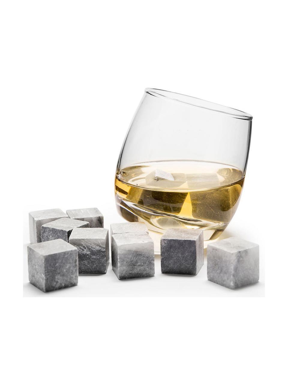 Komplet kamieni do whisky Rocking, 9 szt., Szary, S 2 x W 2 cm