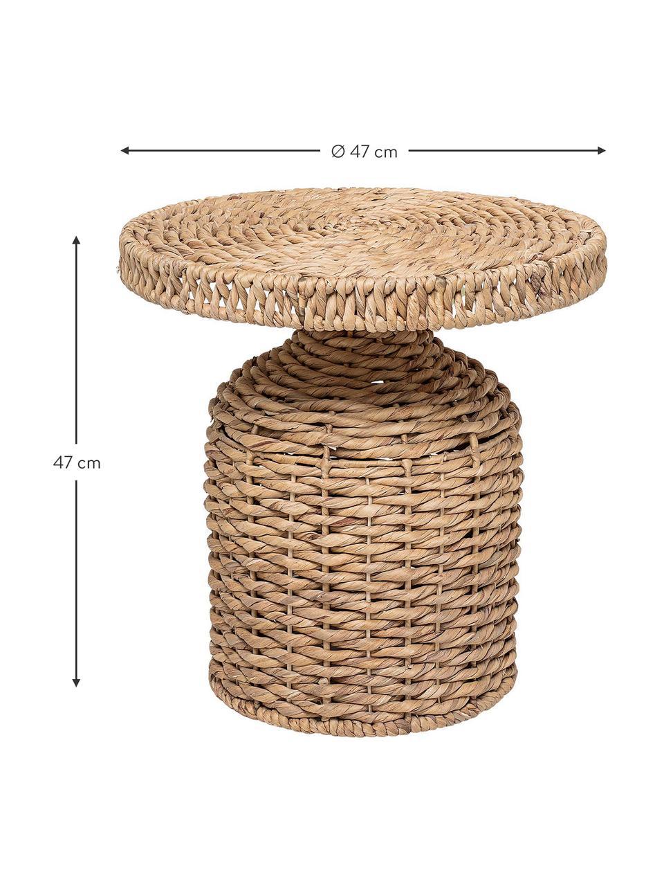 Runder Rattan-Beistelltisch Camo, Rattan, Hellbraun, Ø 47 x H 47 cm