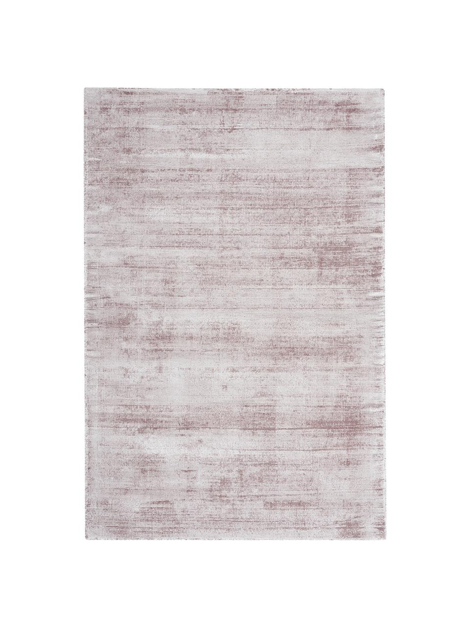 Handgeweven viscose vloerkleed Jane in lila, Bovenzijde: 100% viscose, Onderzijde: 100% katoen, Lila, B 160 x L 230 cm (maat M)