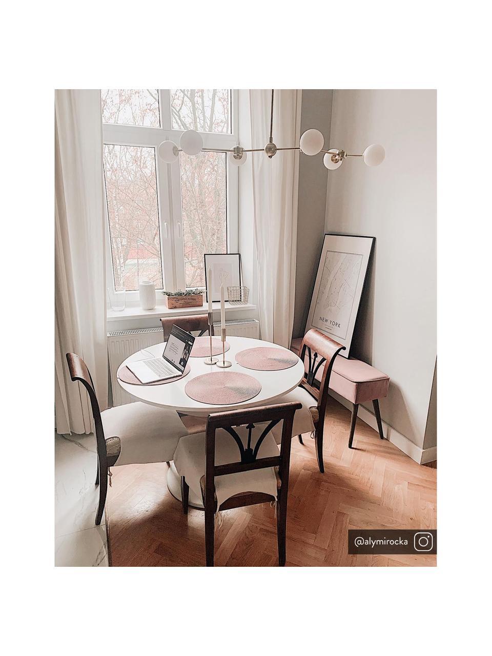 Ławka tapicerowana z aksamitu Popy, Tapicerka: aksamit poliestrowy Dzięk, Nogi: drewno kauczukowe, lakier, Brudny różowy, S 100 x W 50 cm
