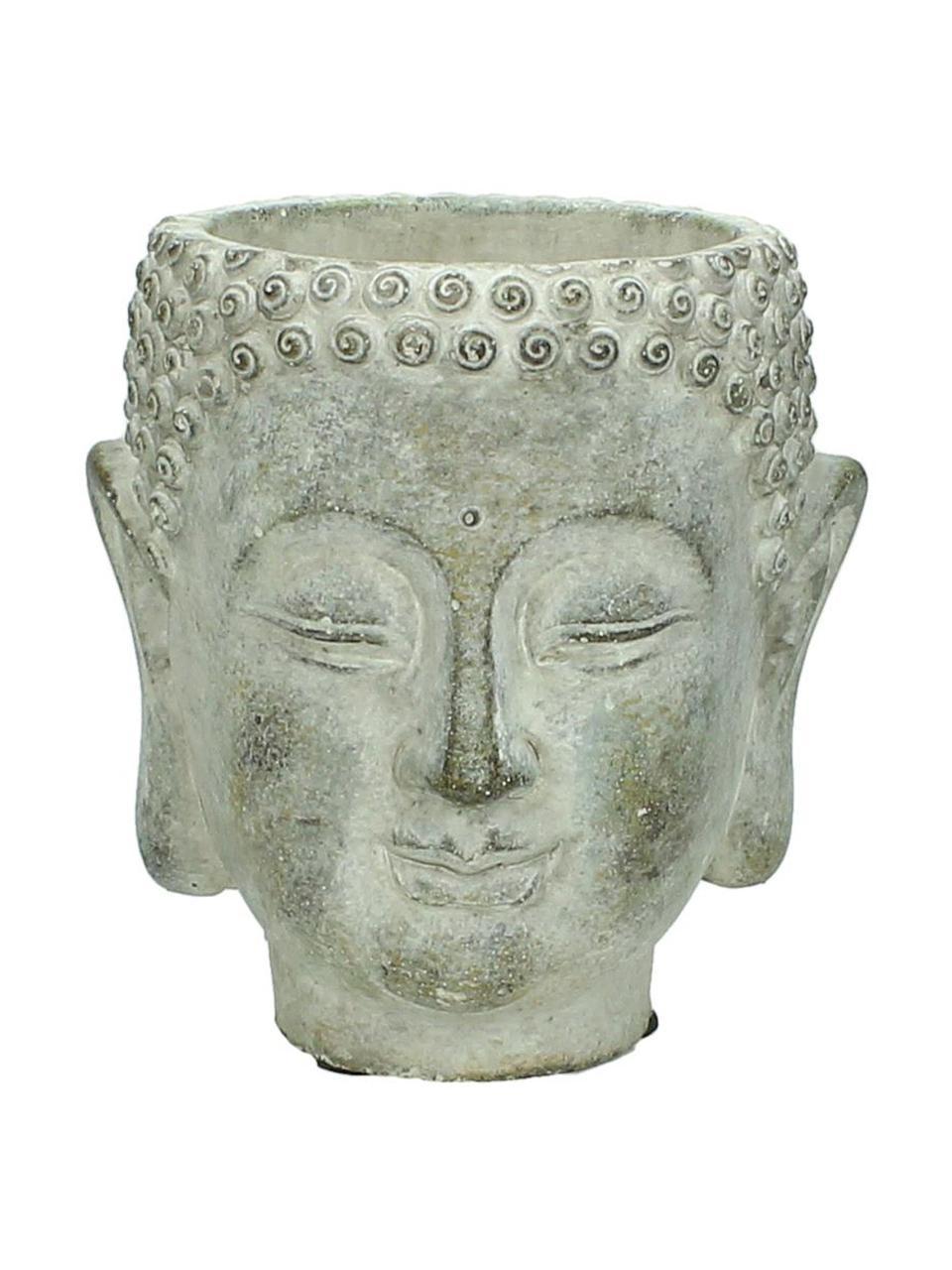 Osłonka na doniczkę z betonu Head, Beton, Szary, S 15 x W 17 cm