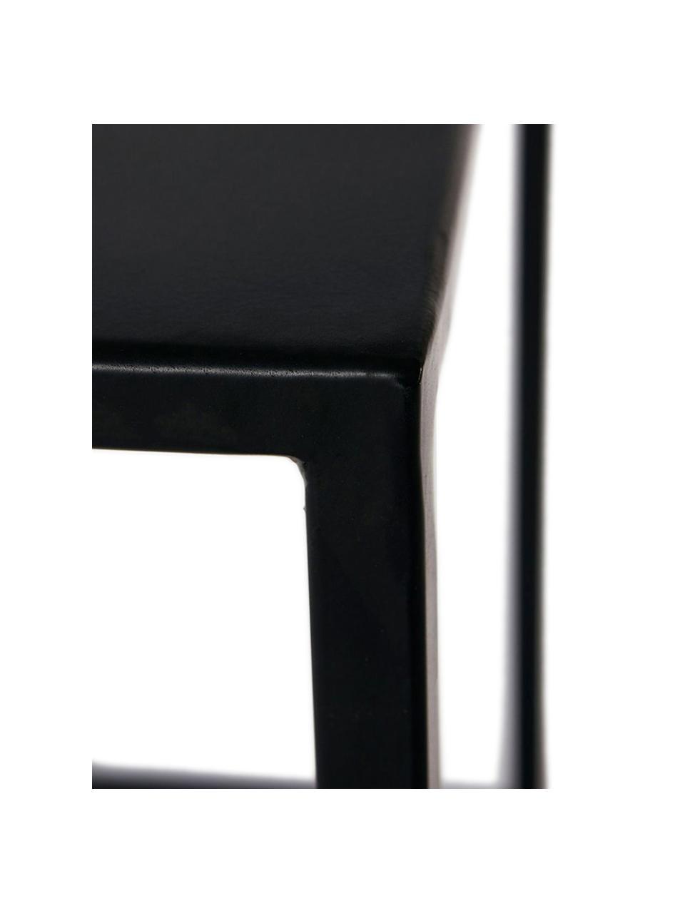 Großer Couchtisch Tikota in Schwarz, Metall, pulverbeschichtet, Schwarz, 100 x 32 cm