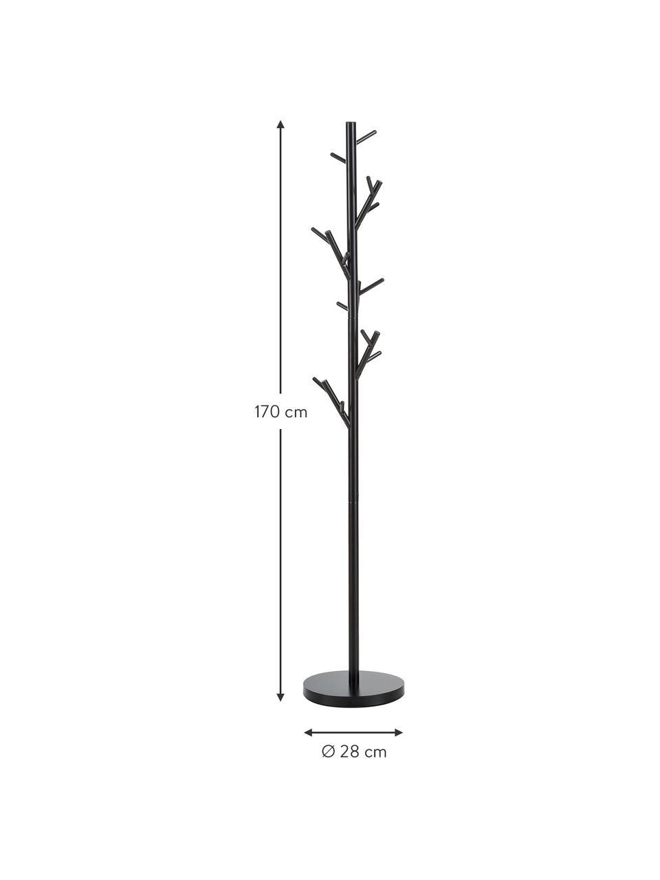 Kleiderständer Tree mit 18 Haken, Stahlrohr, pulverbeschichtet, Schwarz, Ø 28 x H 170 cm