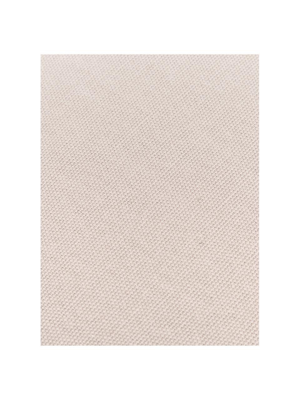 Federa arredo con nappe Shylo, 100% cotone, Beige, Larg. 40 x Lung. 40 cm