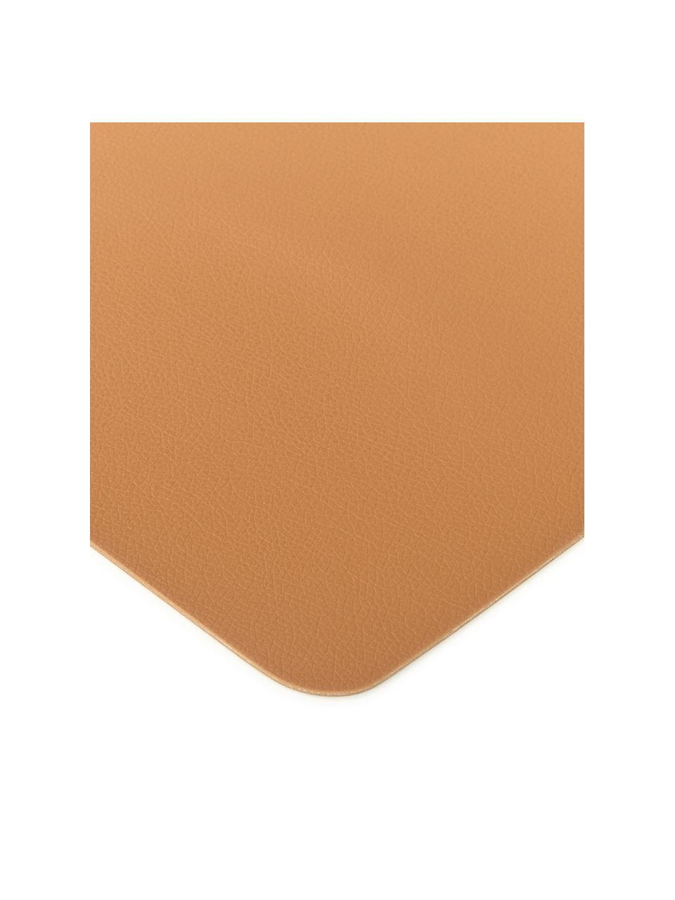 Tovaglietta americana in similpelle Pik 2 pz, Similpelle (PVC), Caramello, Larg. 33 x Lung. 46 cm