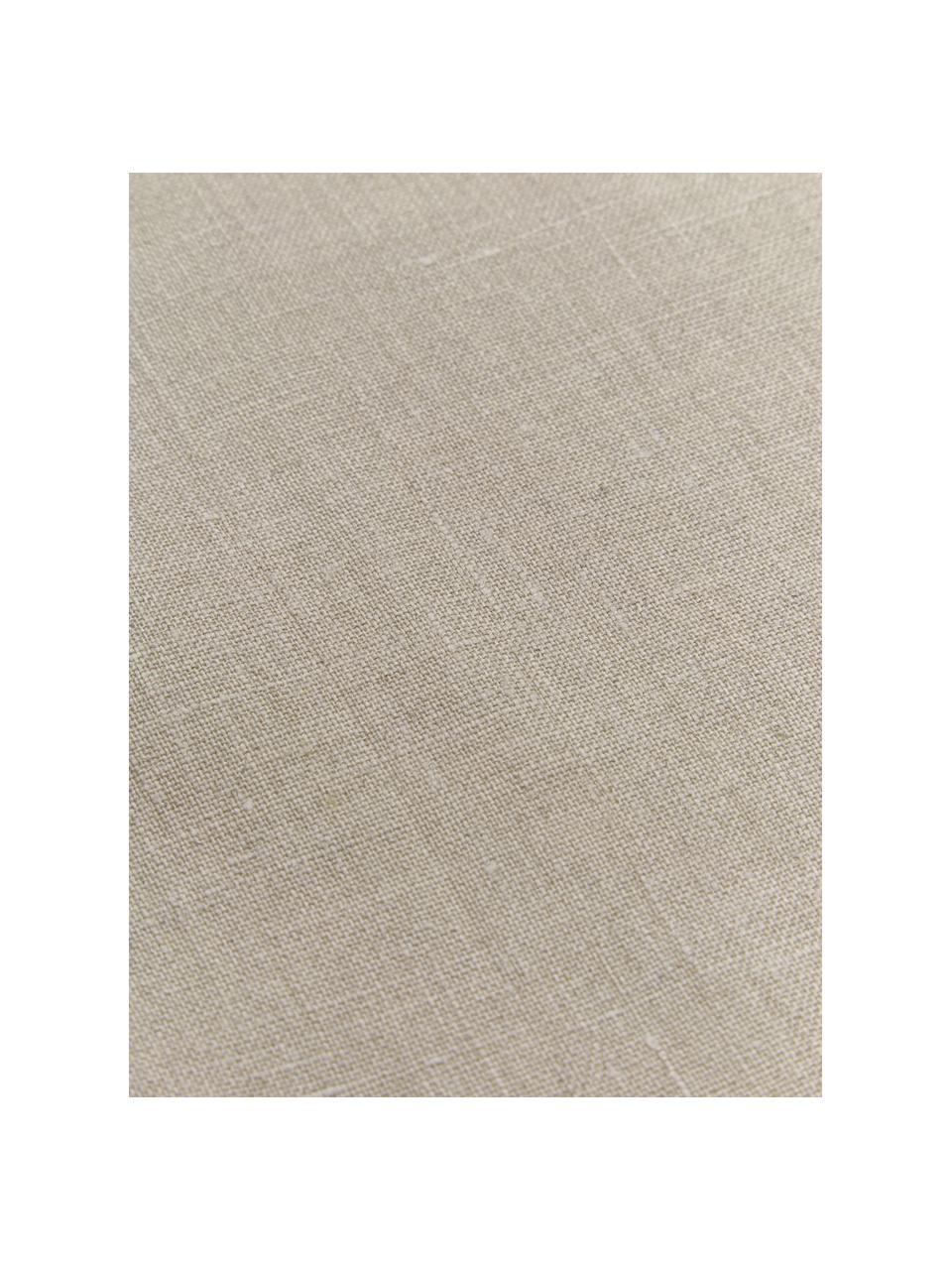 Tovaglia in lino Alanta, Beige, Per 6-8 persone  (Larg.160 x Lung. 250 cm)
