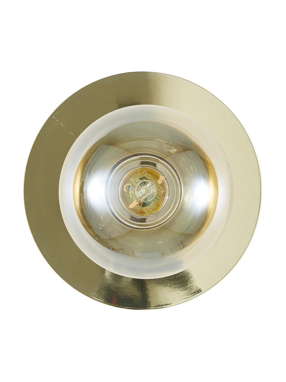 Kinkiet/lampa sufitowa z metalu Percy, Mosiądz błyszczący, Ø 14 cm