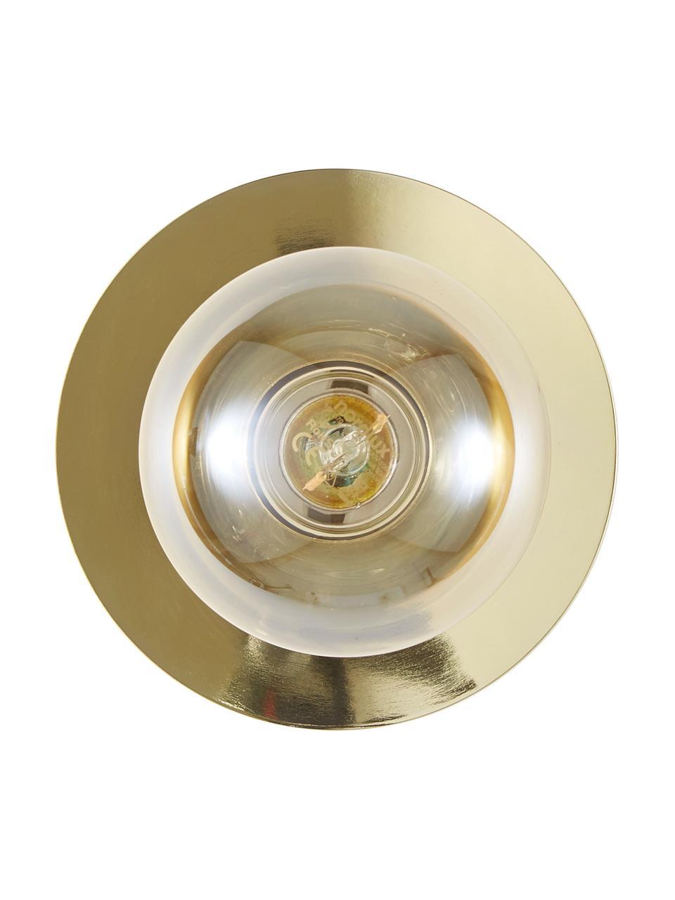 Kinkiet/lampa sufitowa spot z metalu Percy, Mosiądz błyszczący, Ø 14 cm