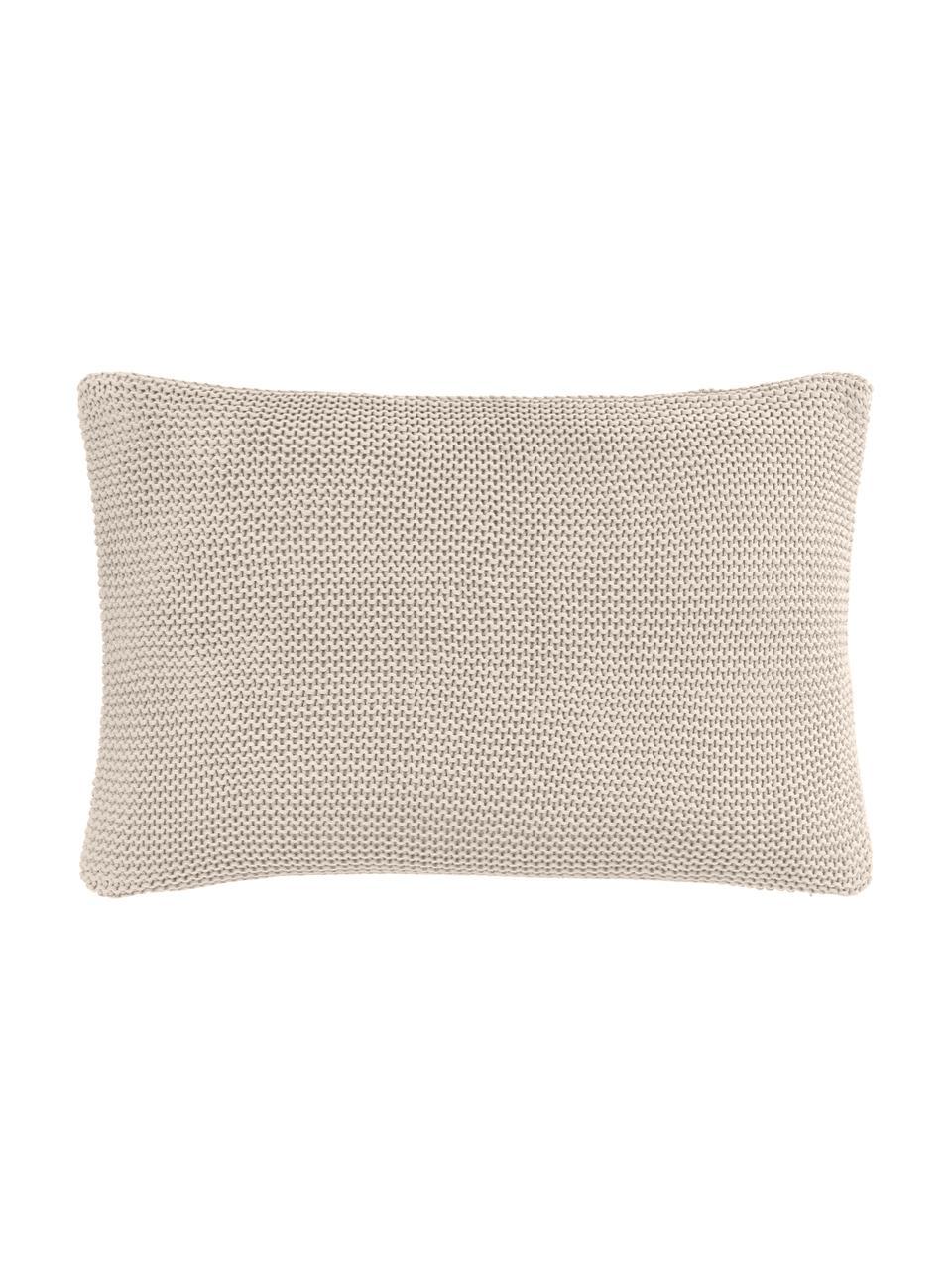 Poszewka na poduszkę z bawełny organicznej  Adalyn, 100% bawełna organiczna, certyfikat GOTS, Beżowy, S 30 x D 50 cm