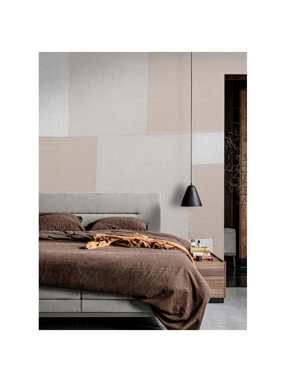 Adesivo murale Patchwork Beige, Tessuto non tessuto, Grigio chiaro, Larg. 300 x Alt. 280 cm