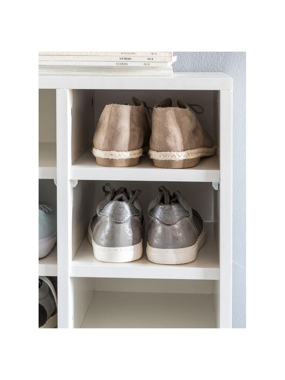Meuble à chaussures avec 20 compartiments Diego, Blanc