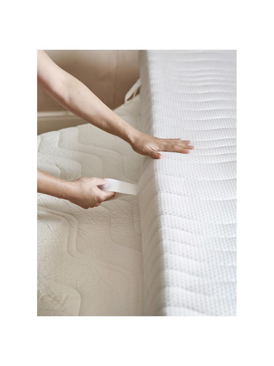 7-Zonen-Taschenfederkernmatratze Julia, Bezug: Tencel-Doppeltuch (67 % P, Weiß, 90 x 200 cm
