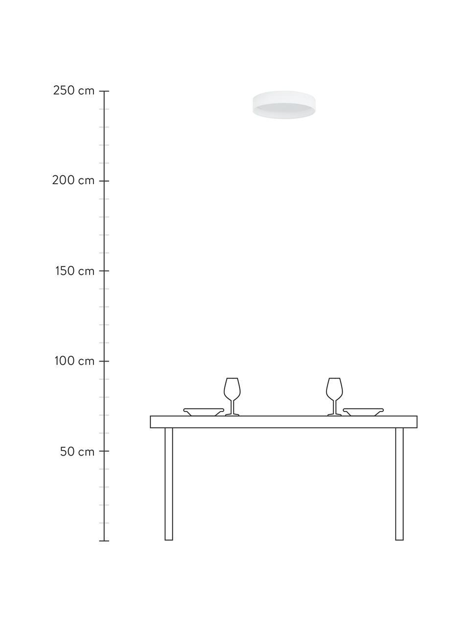 Plafoniera a LED bianca Helen, Struttura: metallo, Bianco, Ø 52 x Alt. 11 cm
