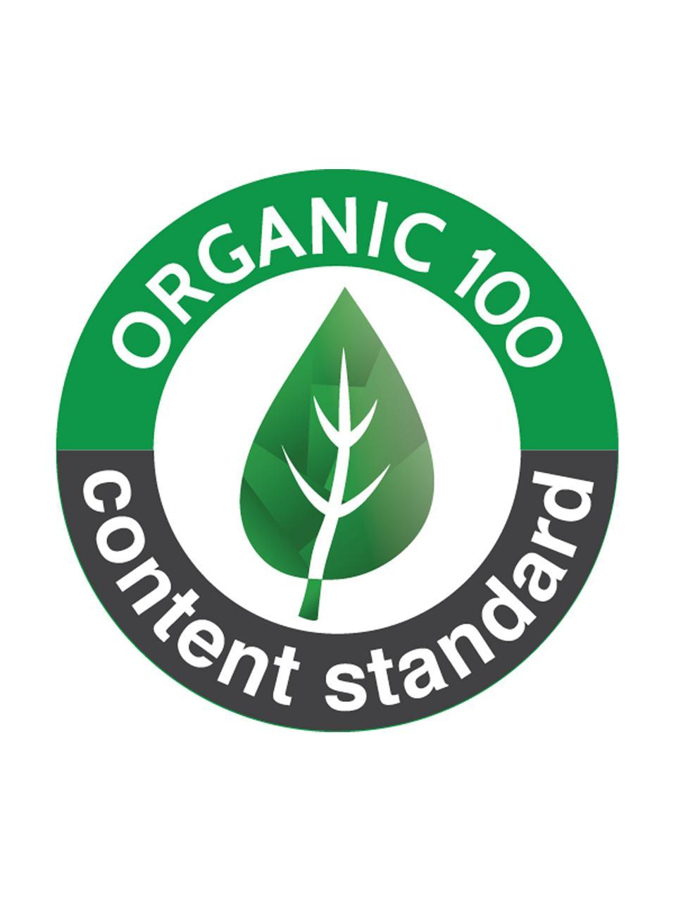 Fasciatoio in cotone organico Pressed Leaves, Crema, rosa, blu, grigio, giallo, Larg. 50 x Lung. 65 cm