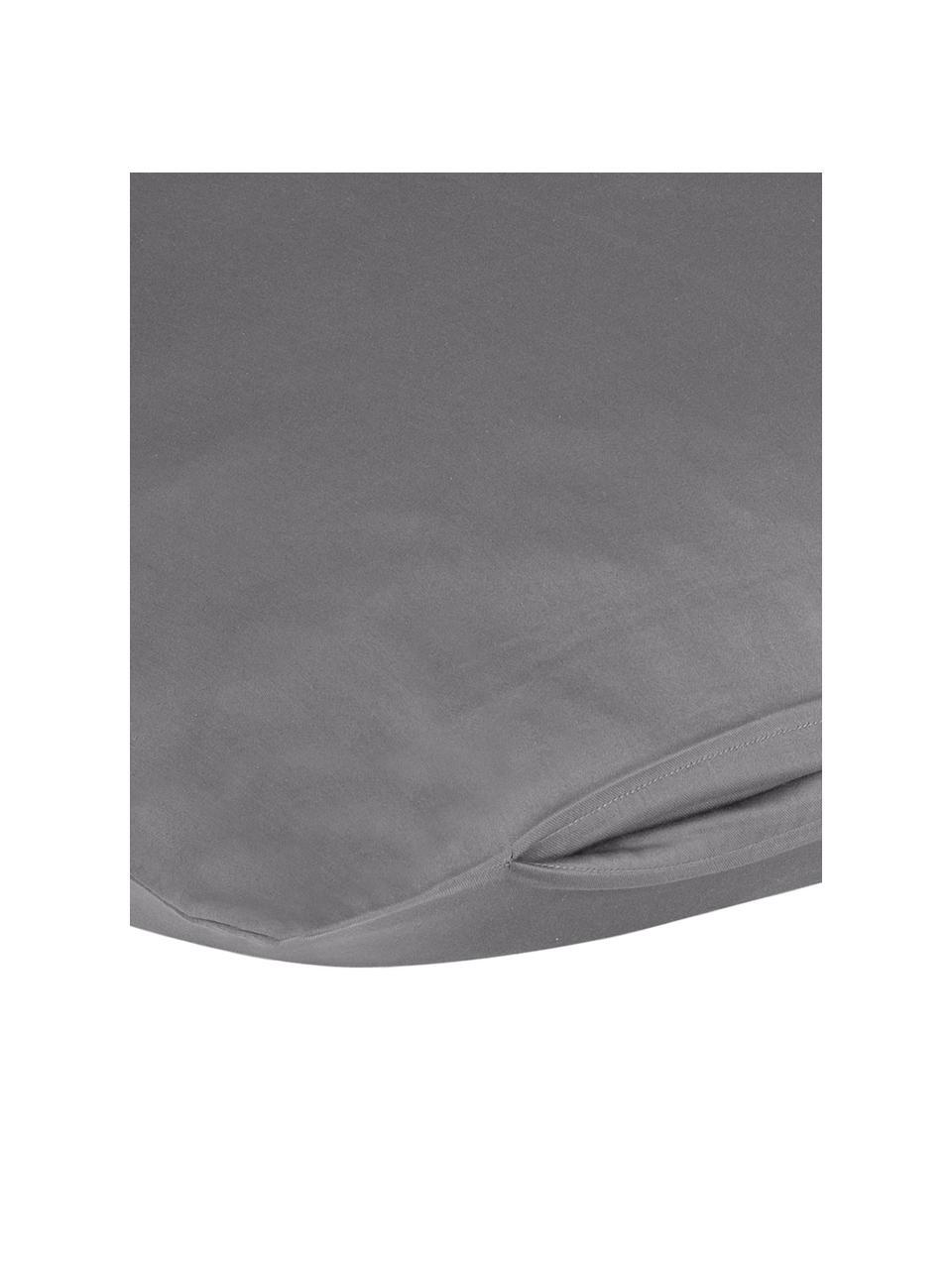 Baumwollsatin-Kopfkissenbezüge Comfort in Dunkelgrau, 2 Stück, Webart: Satin Fadendichte 250 TC,, Dunkelgrau, 40 x 80 cm