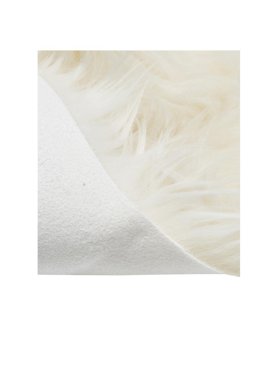 Sztuczne futro Vancouver, Biały, S 60 x D 100 cm