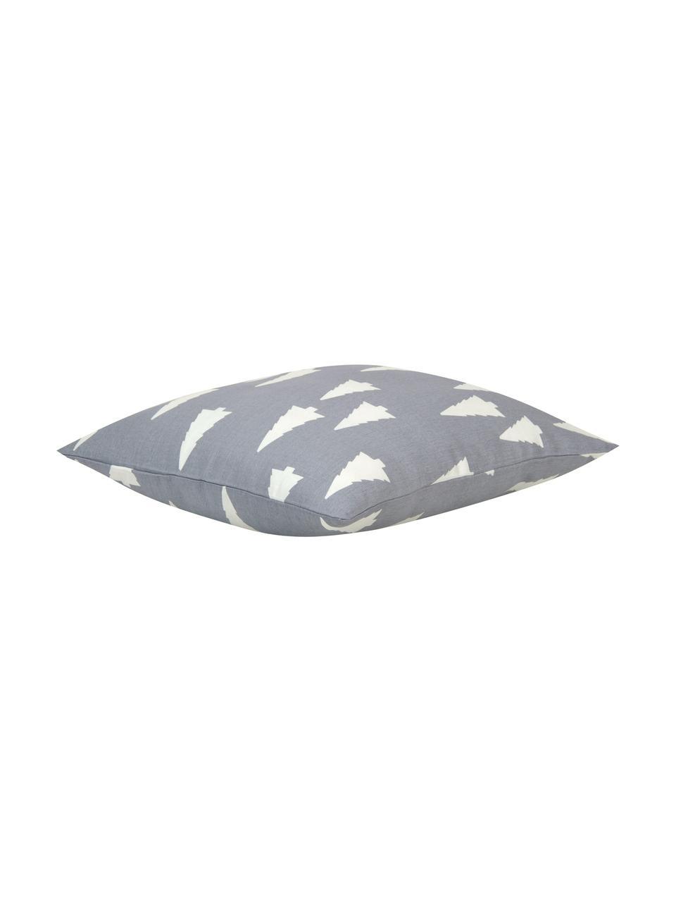 Poszewka na poduszkę Tree, 100% bawełna, splot panama, Szary, ecru, S 40 x D 40 cm