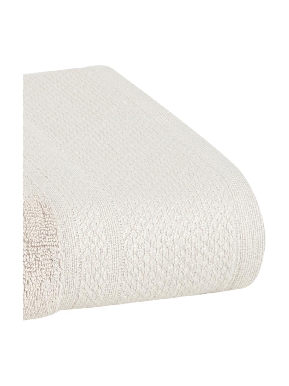 Asciugamano con bordo decorativo classico Premium, Beige, Asciugamano