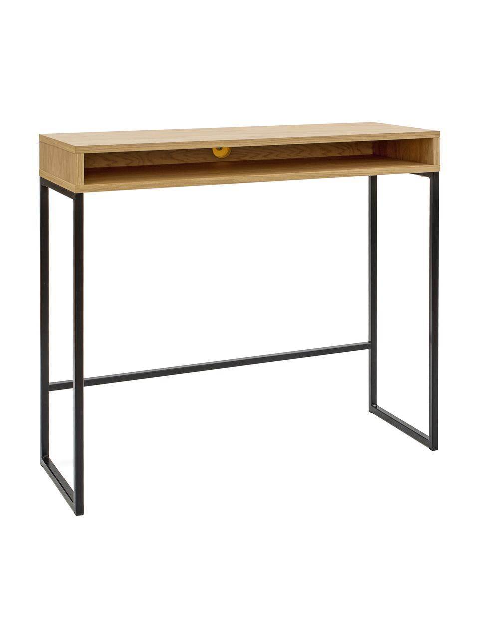 Úzký psací stůl Frame, Dub