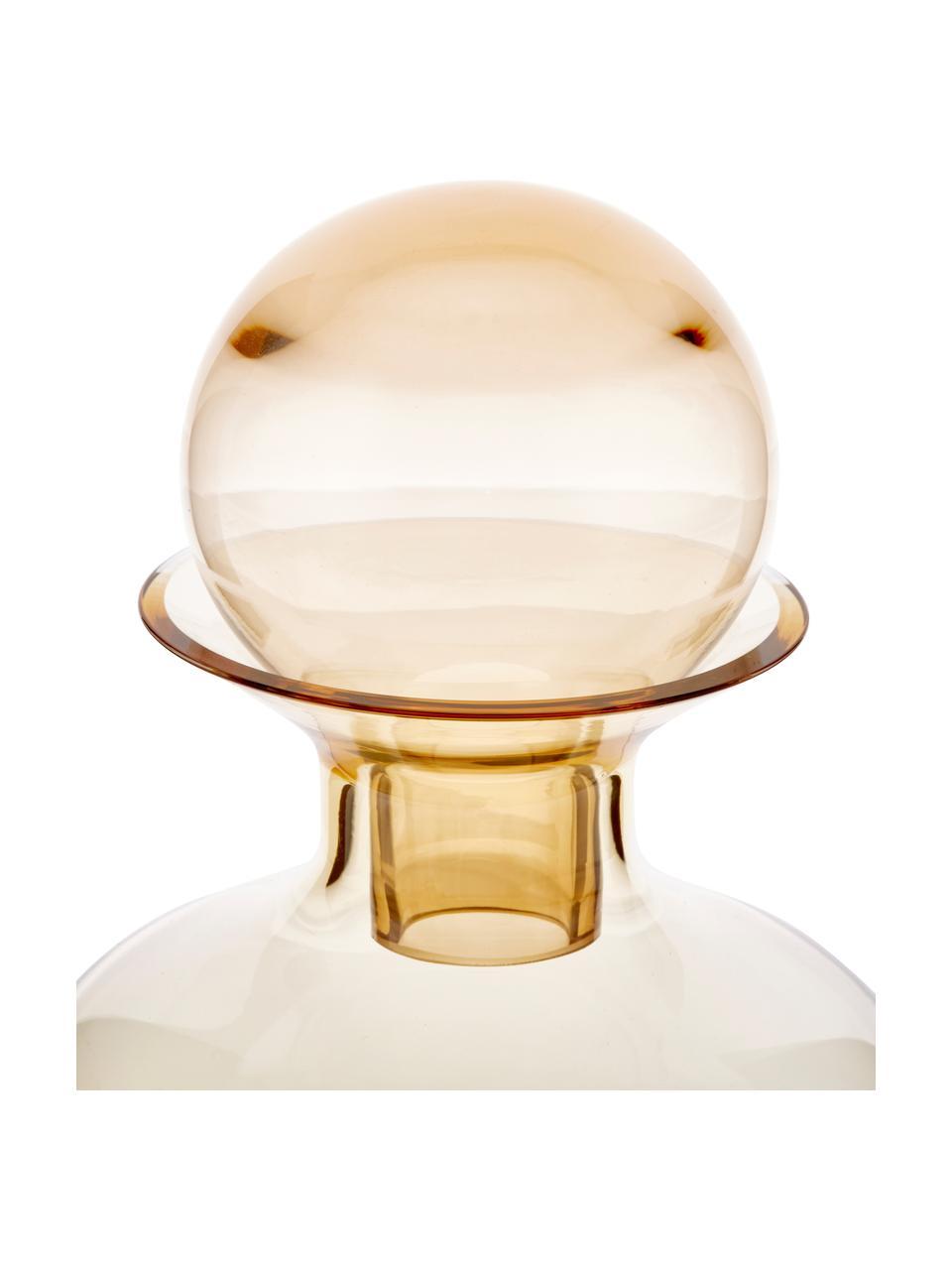 Caraffa in vetro fatta a mano Colored, 1.5 L, Vetro, Ambra trasparente, Alt. 25 cm