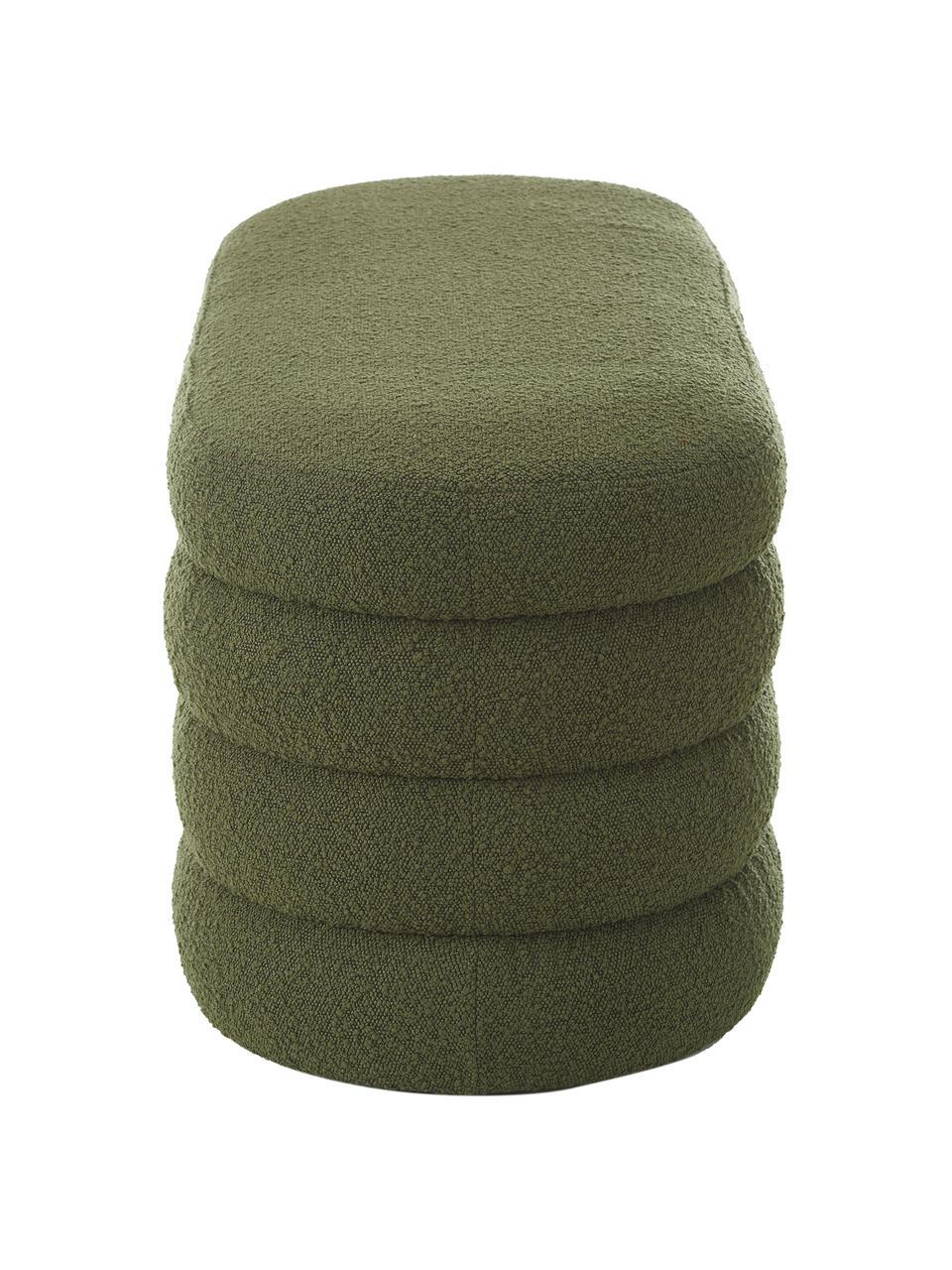 Banquette en tissu bouclé Alto, Tissu bouclé vert