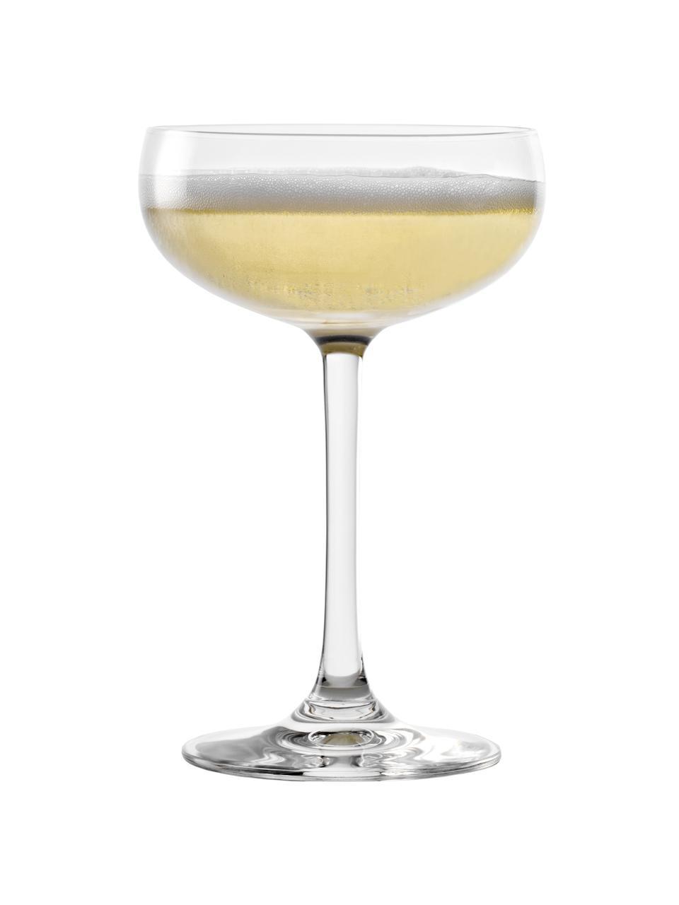 Kryształowy kieliszek do szampana Elements, 6 szt., Szkło kryształowe, Transparentny, Ø 10 x W 15 cm