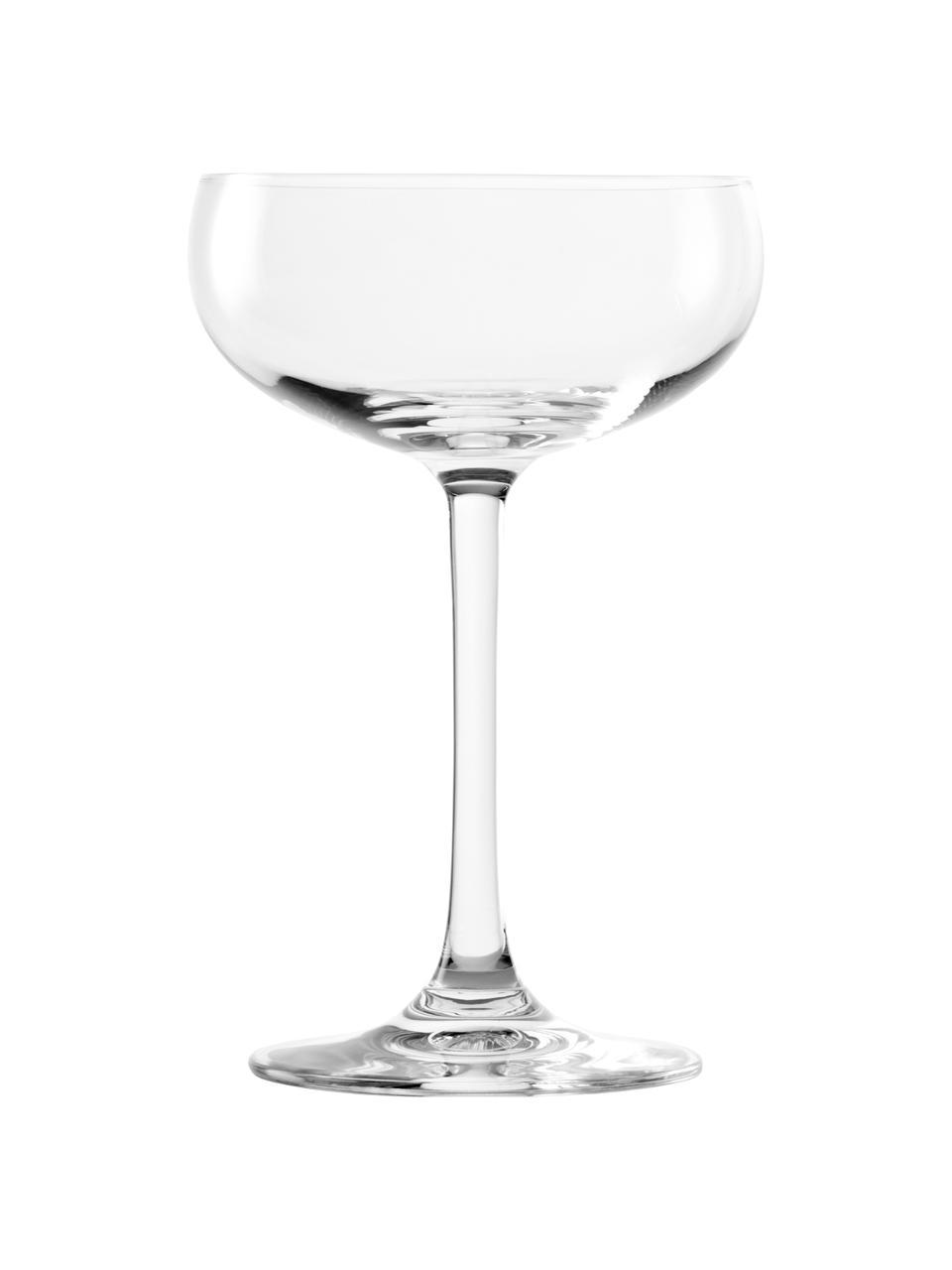 Kristallen champagneglazenset Elements, 6-delig, Kristalglas, Transparant, Ø 10 x H 15 cm