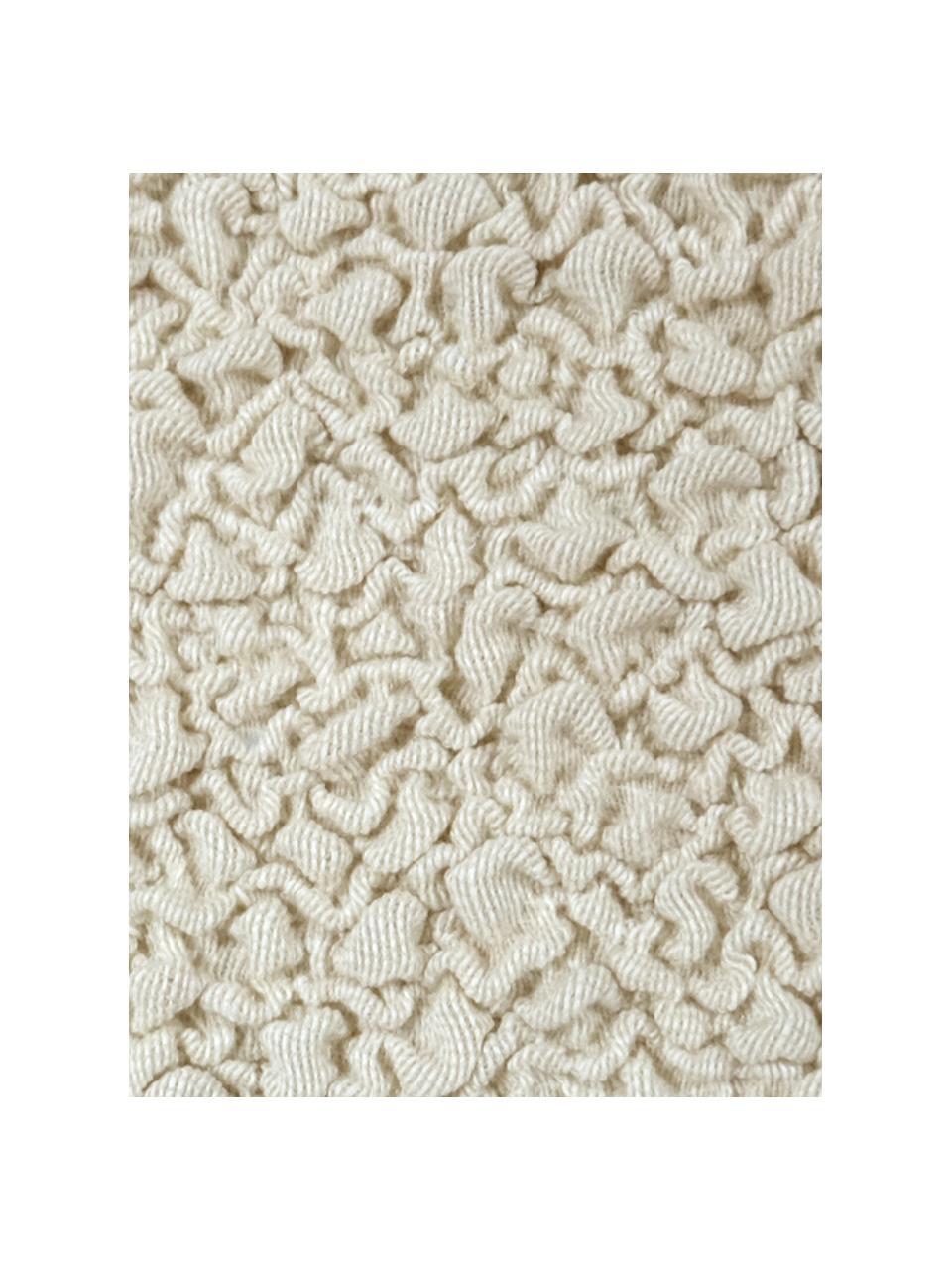 Copertura divano angolare Roc, 55% poliestere, 35% cotone, 10% elastomero, Color crema, Larg. 600 x Alt. 120 cm