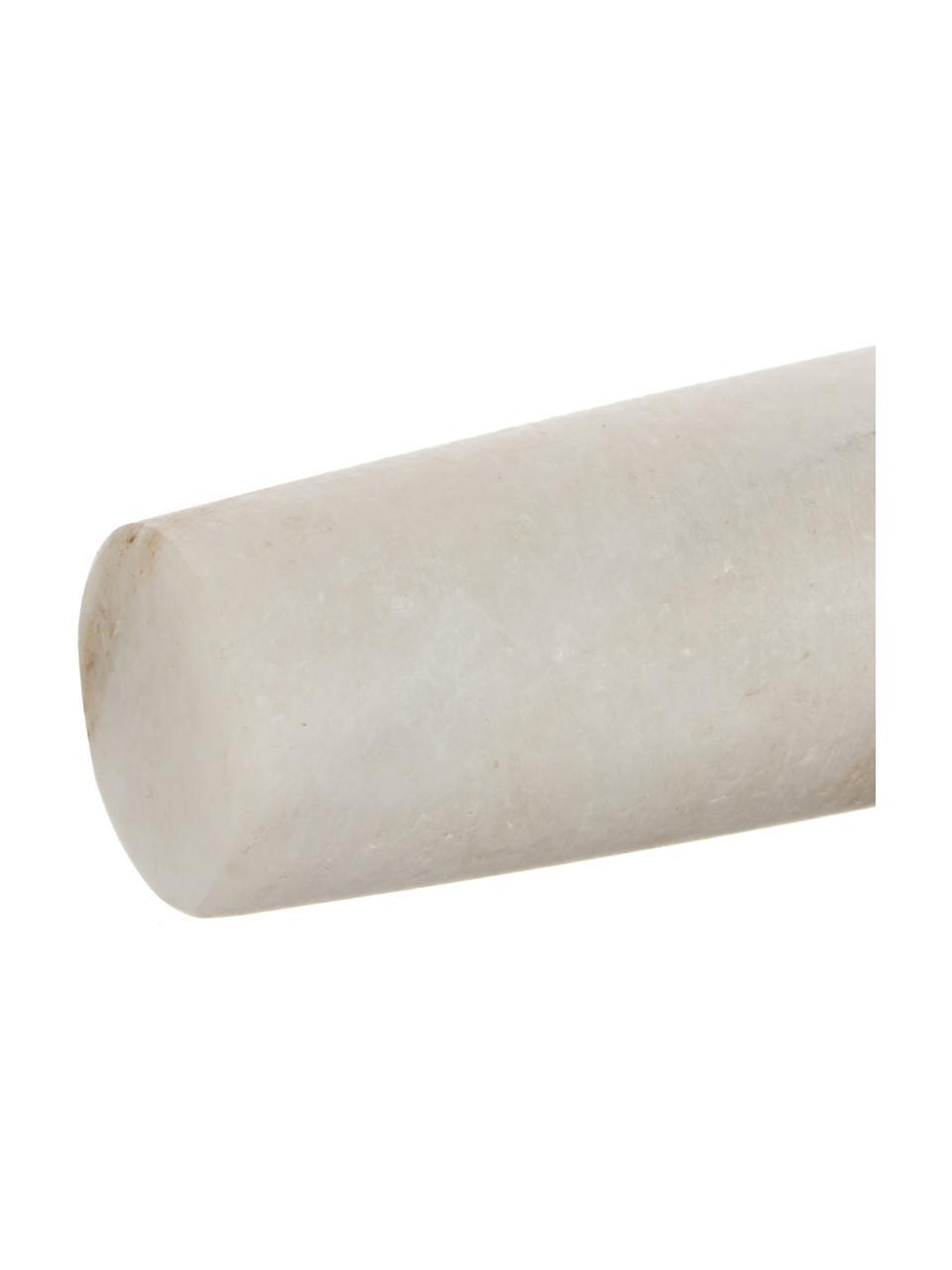 Marmor-Nudelholz Maggie, Marmor, Weiß, Ø 3 x L 29 cm