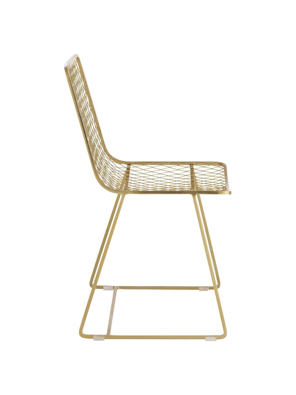 Chaise métal design Kira, Couleur laiton