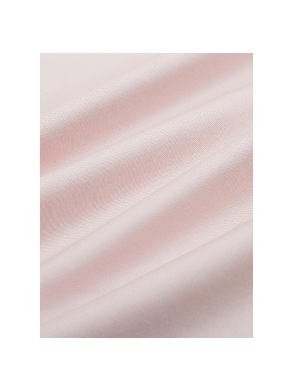 Satin-Kissenbezüge Premium aus Bio-Baumwolle in Rosa mit Stehsaum, 2 Stück, Webart: Satin Fadendichte 400 TC,, Rosa, 40 x 80 cm