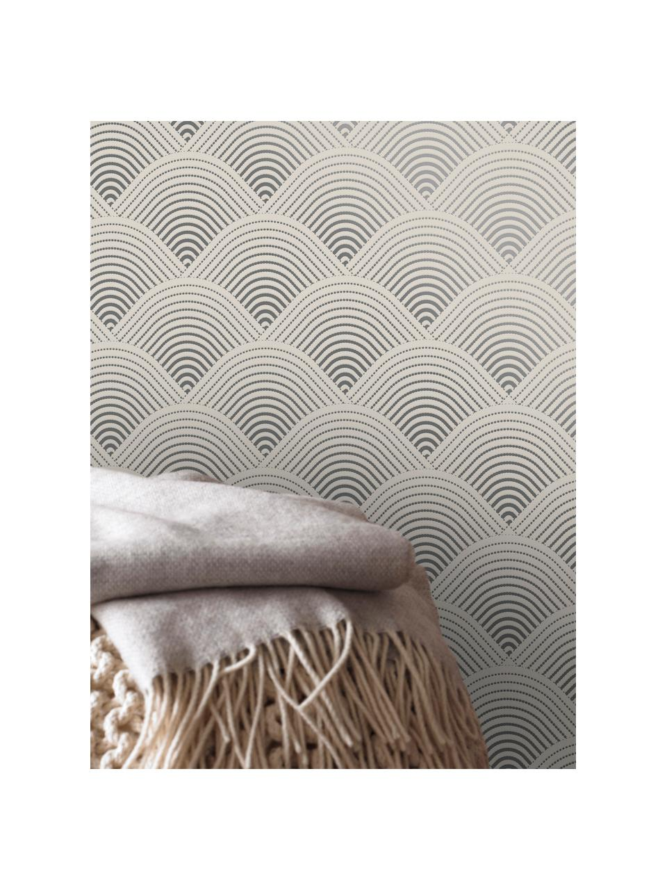 Tapete Luxus 3D Geometric Art, Vlies, Silberfarben, Grau, 52 x 1005 cm