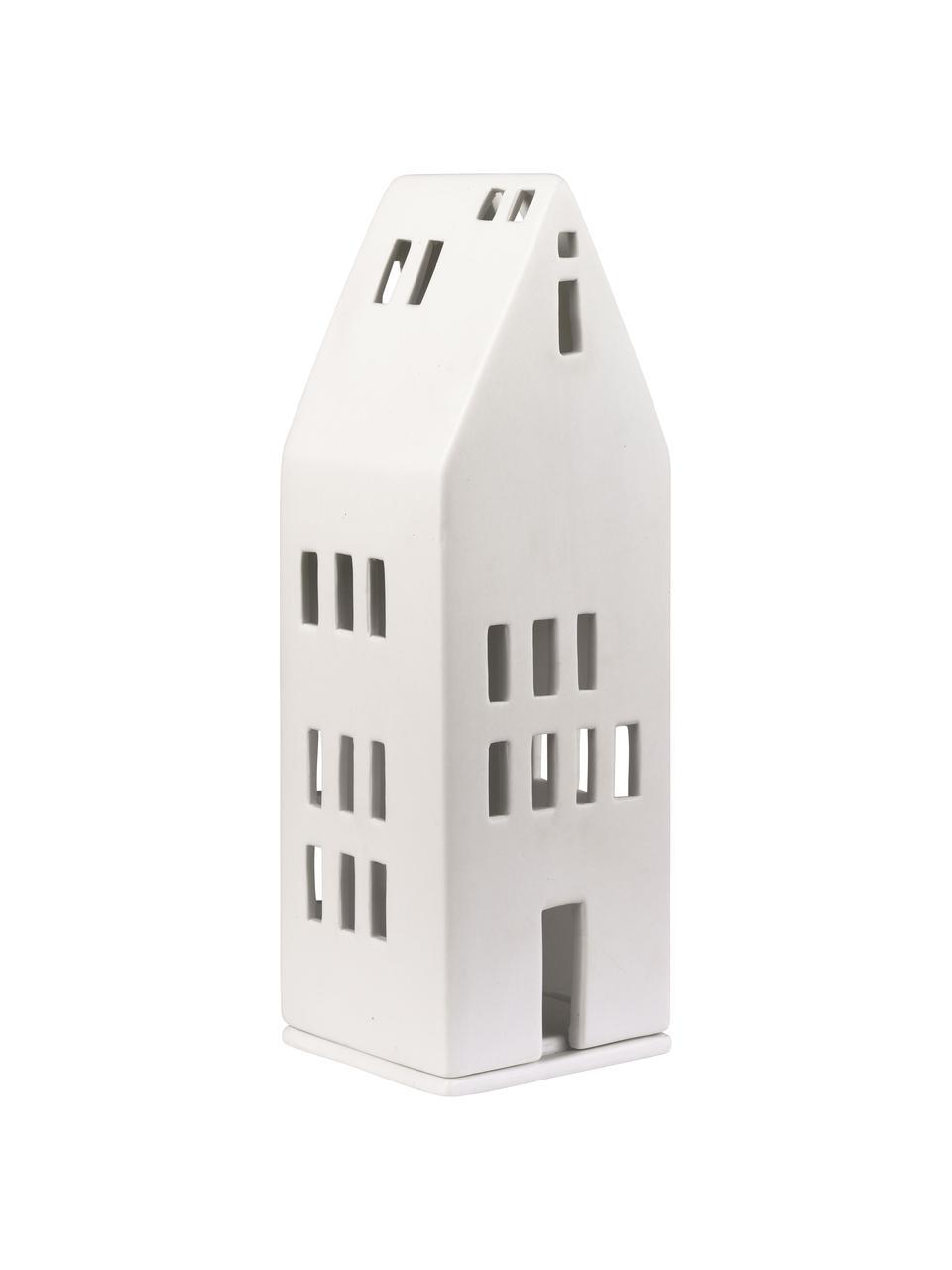 Lichthaus Building, Porzellan, Weiß, 8 x 22 cm