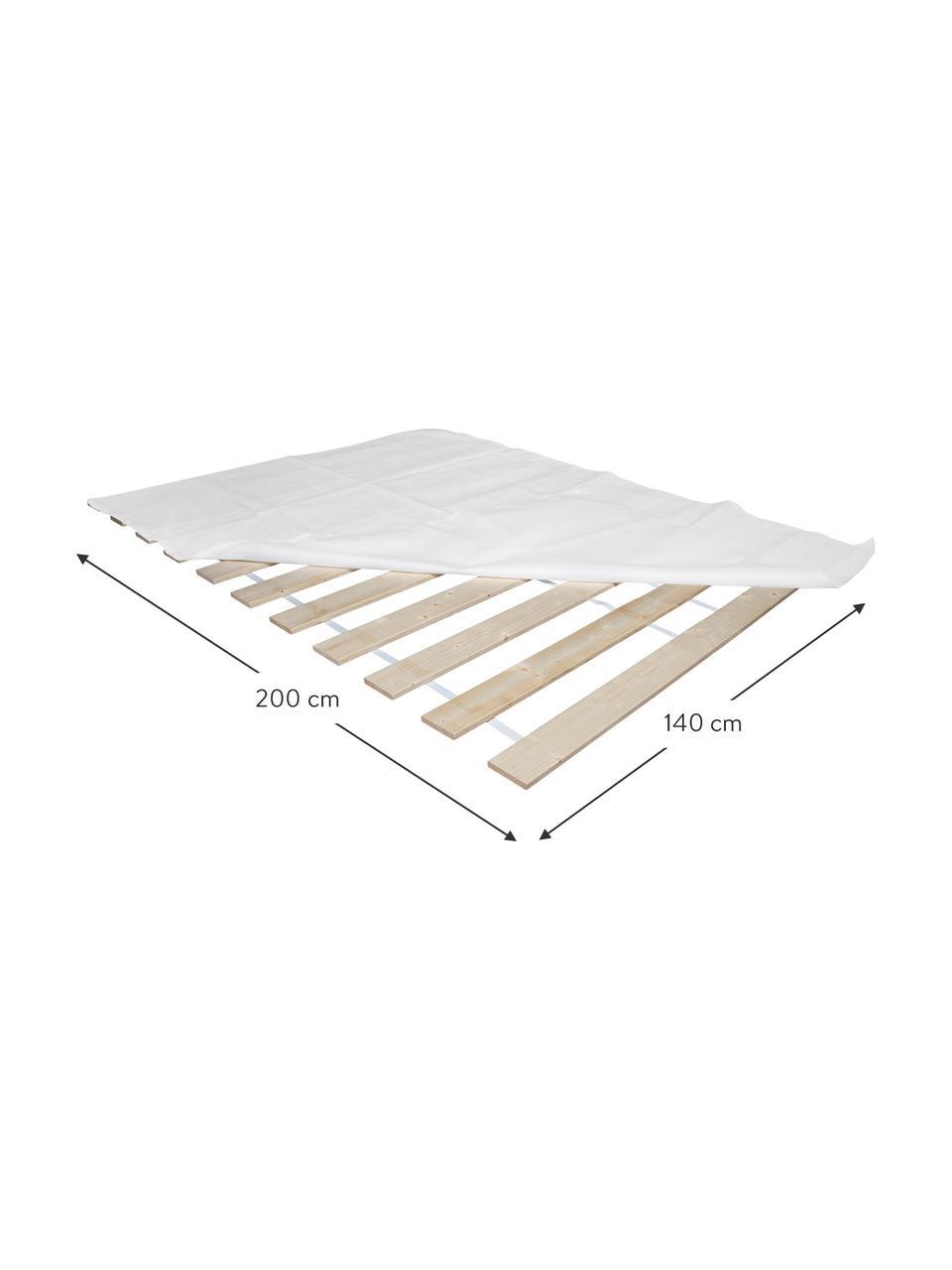 Rollrost 2er-Set Juan Carlos, Leisten: Massives Tannenholz, Leisten: Helles HolzAbdeckung: weiß, 180 x 200 cm