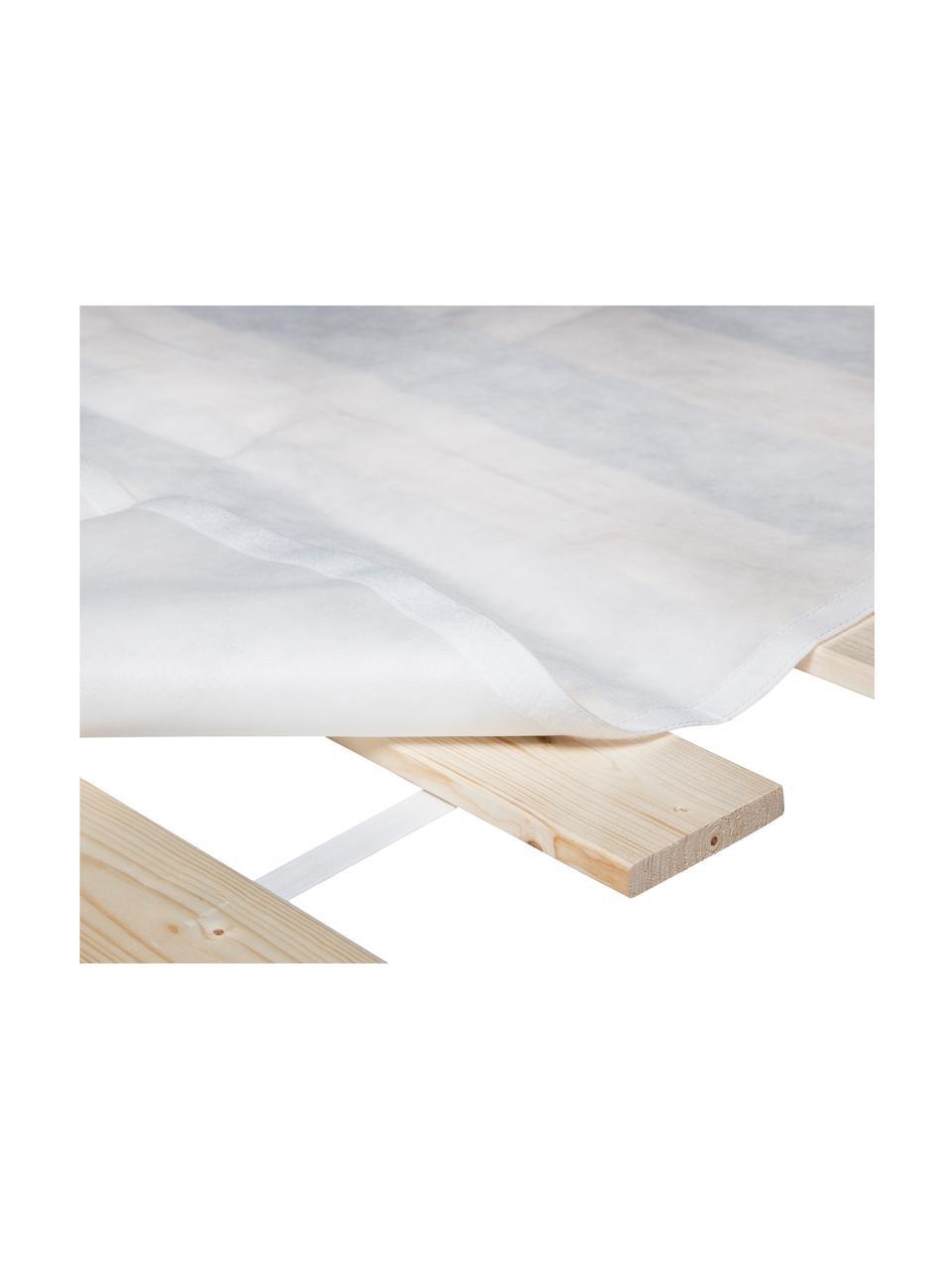 Lattenbodem Juan Carlos, 2-delig, Lijstwerk: licht houtkleurig. Deksel: wit, 180 x 200 cm