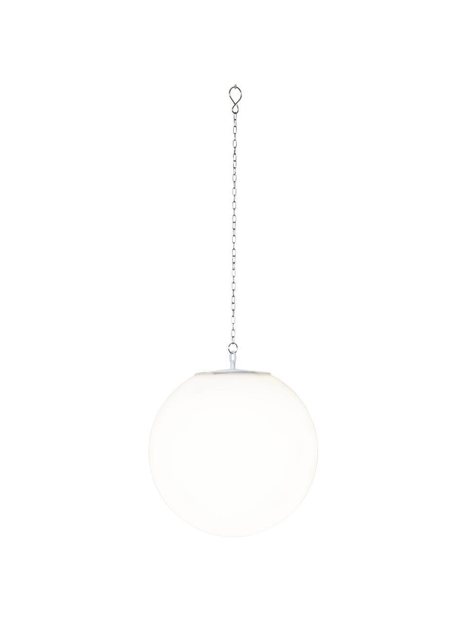 Solar hanglamp Globy, Lampenkap: kunststof, Wit, Ø 30 x H 29 cm