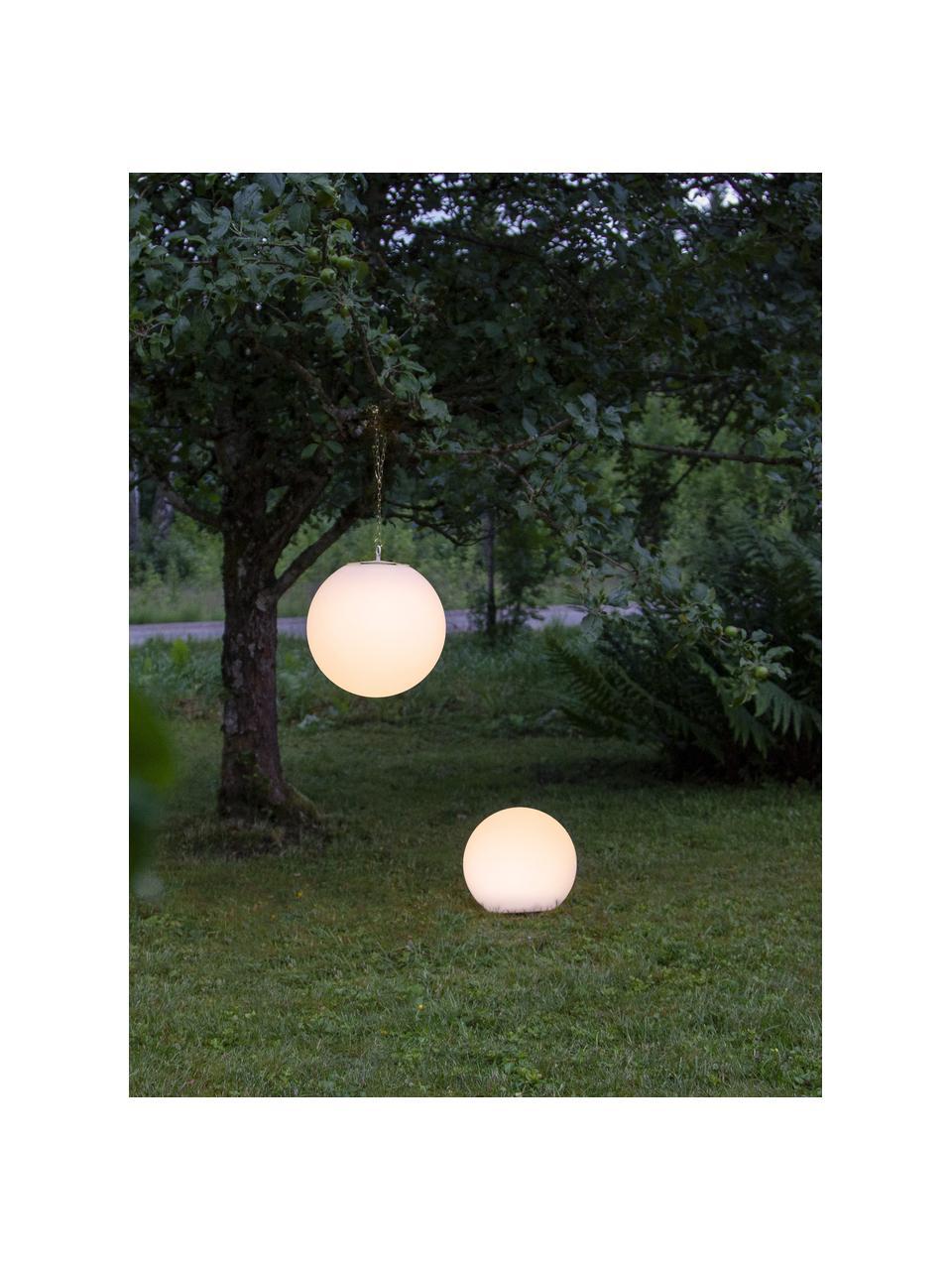 Solarna lampa wisząca Globy, Biały, Ø 30 x W 29 cm