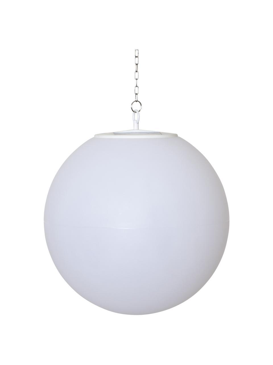 Lampe boule solaire d'extérieur LED Globy, Blanc