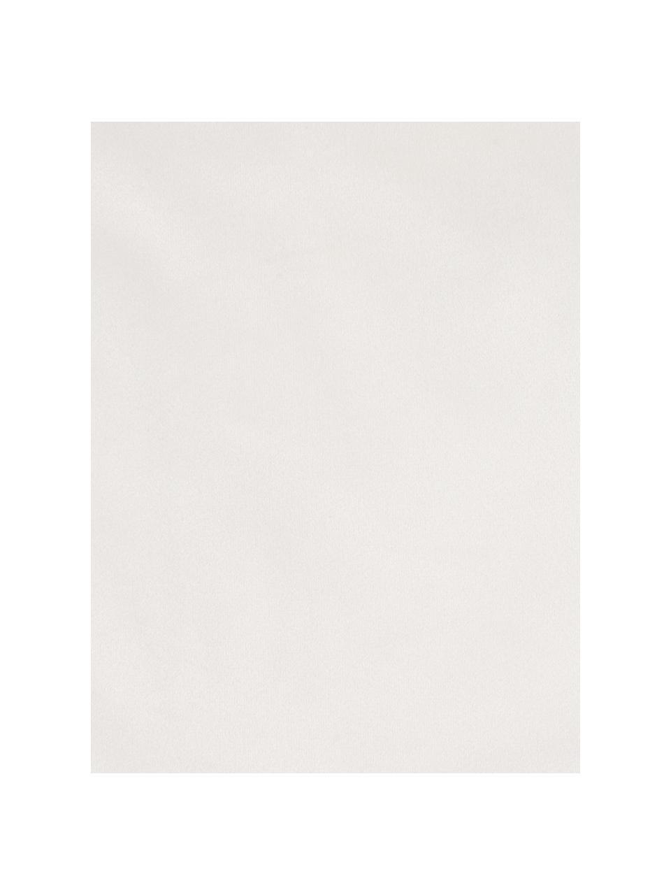 Bestickte Samt-Kissenhülle Giro in Creme/Gold, 100% Polyestersamt, Cremeweiß, Goldfarben, 40 x 40 cm