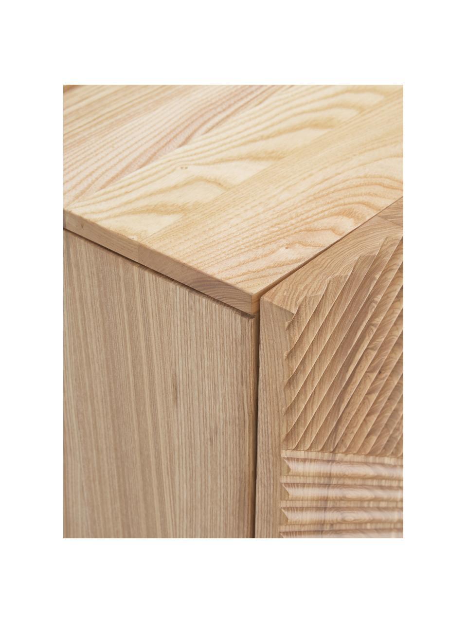 Lowboard Louis aus massivem Eschenholz mit Türen, Eschenholz, 180 x 55 cm