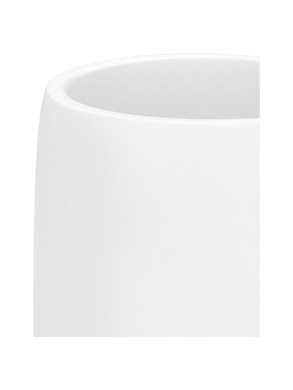 Zahnputzbecher Angel, Keramik, Weiß, Ø 7 x H 11 cm