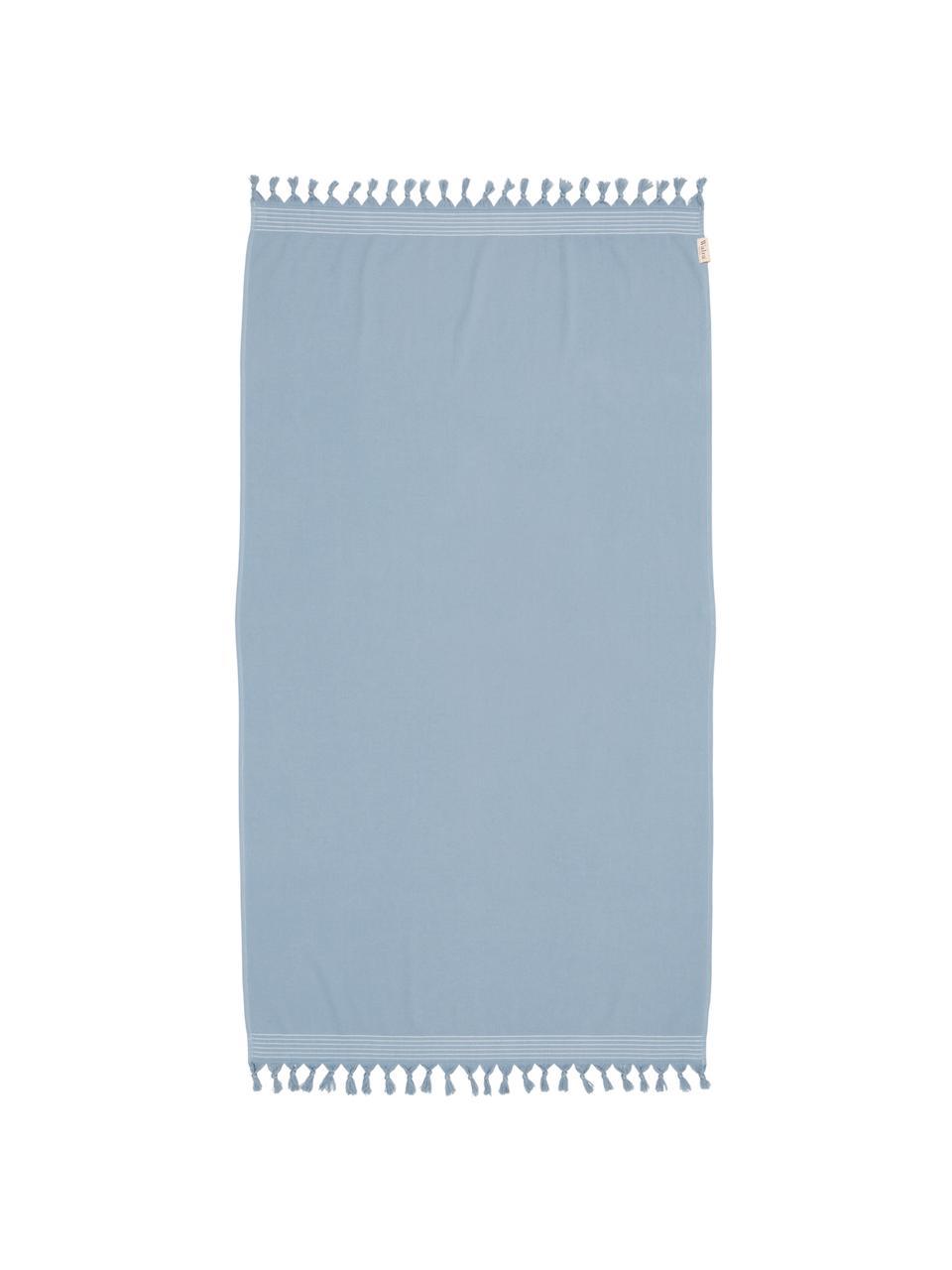 Telo mare Soft Cotton, Retro: Terry, Blu, bianco, Larg. 100 x Lung. 180 cm