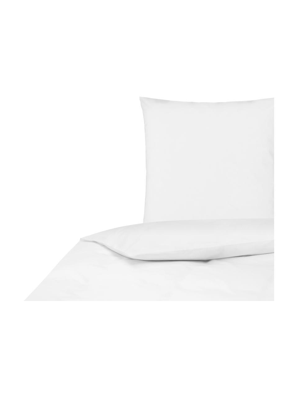 Pościel z perkalu Elsie, Biały, 135 x 200 cm + 1 poduszka 80 x 80 cm