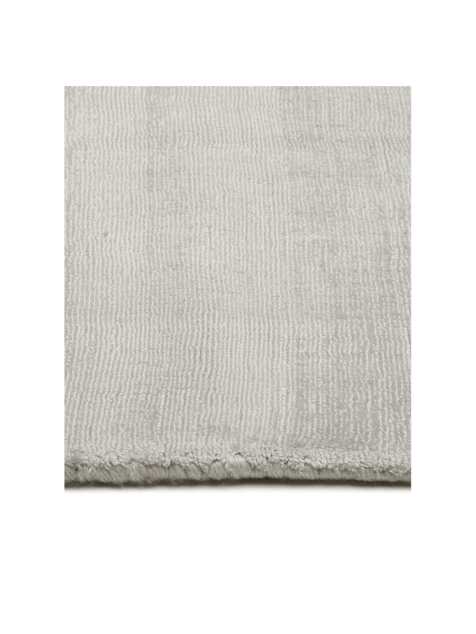 Ručně tkaný viskózový koberec Jane, Světle šedá, béžová