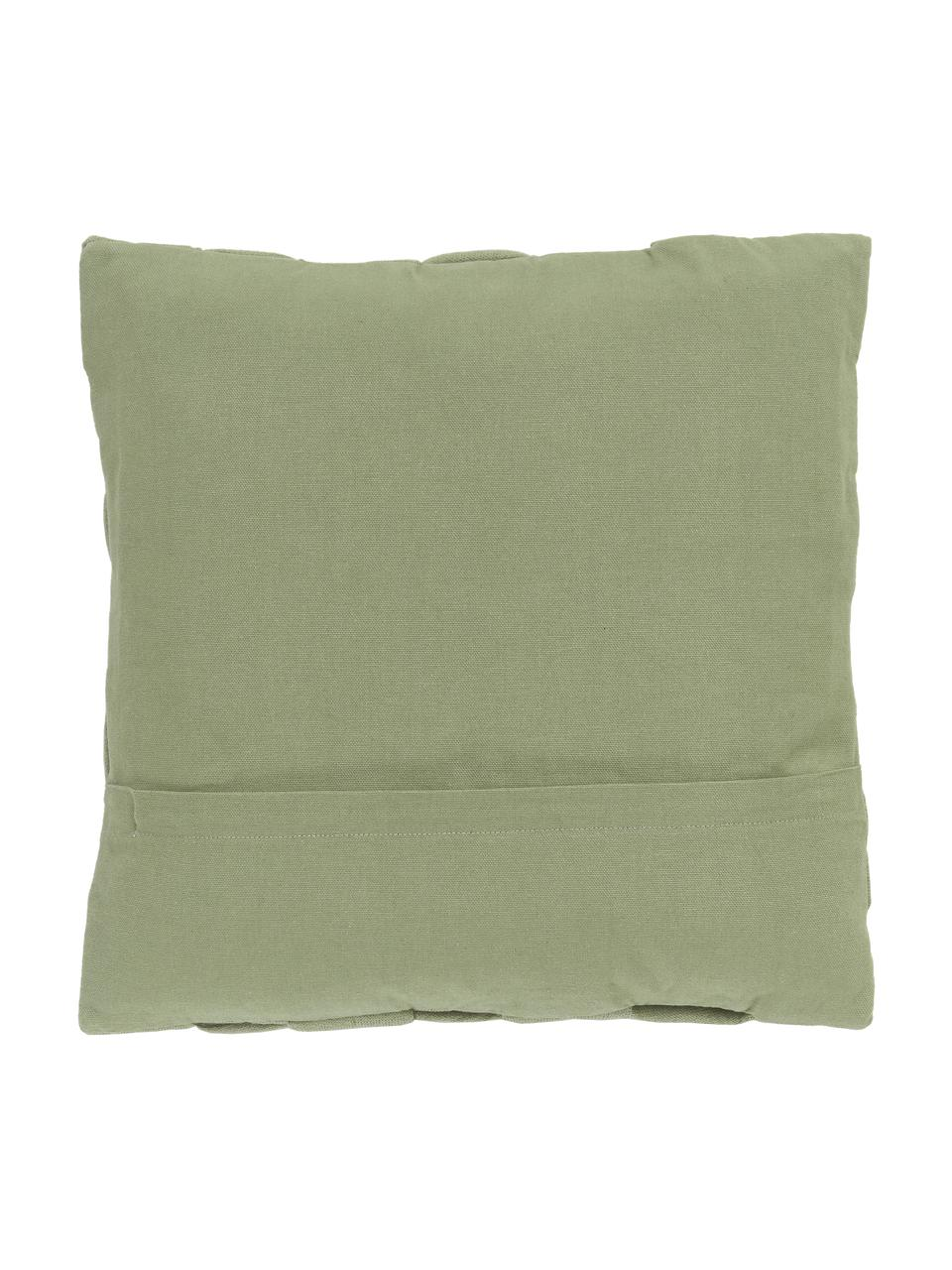 Housse de coussin 40x40 vert sauge Norman, Vert