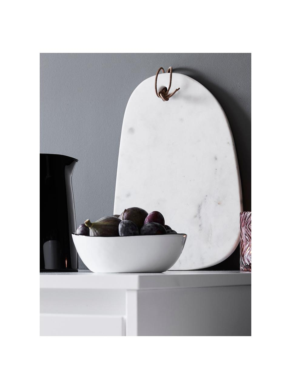 Deska do krojenia z marmuru Classic, Biały, marmurowy, S 24 x D 35 cm