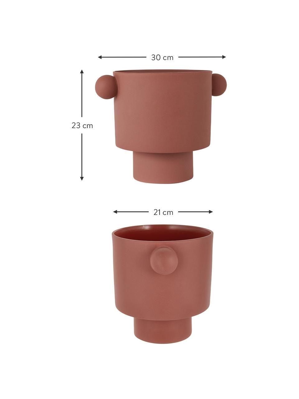 Portavaso in ceramica fatto a mano Ika, Ceramica, Terracotta, Ø 30 x Alt. 23 cm